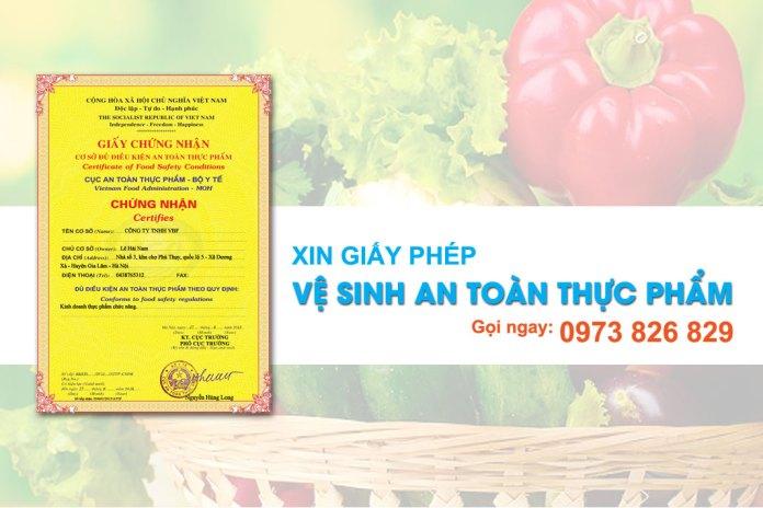Dịch vụ xin giấy chứng nhận vệ sinh an toàn thực phẩm tại Việt Luật