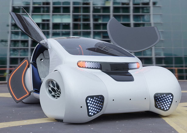 Autonomous City Car Concept di Roman Dolzhenko