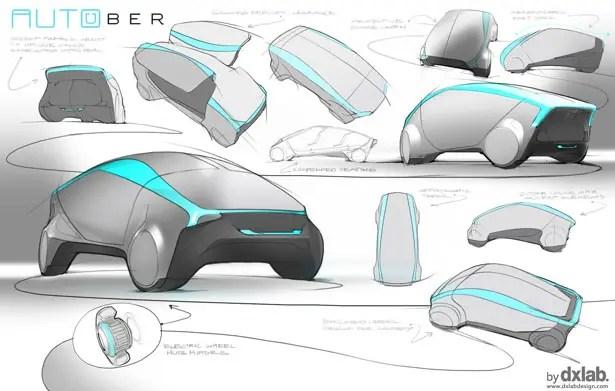Autouber Autonomous Car Design by dxLabDesign