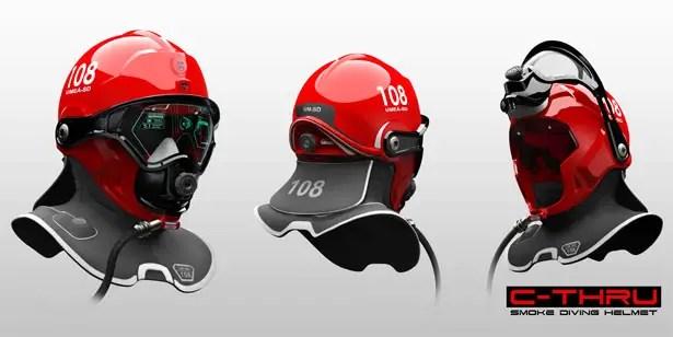 C-Thru Smoke Diving Helmet by Omer Haciomeroglu
