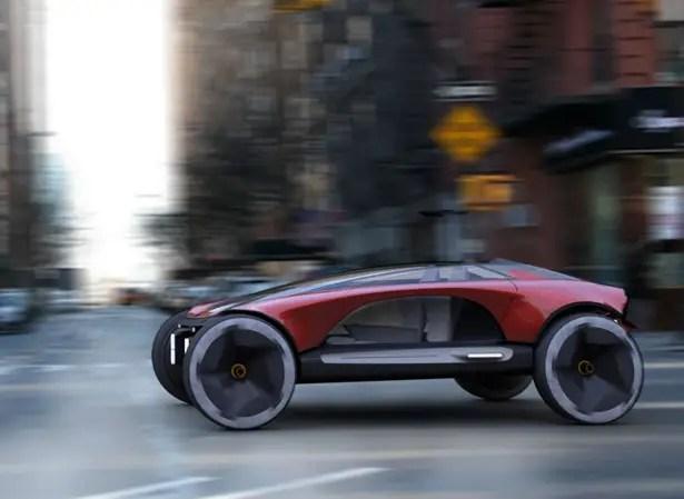 Consol-e Concept Car بواسطة Kenny Gan لتحدي تصميم SAIC