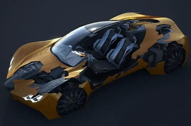Flake Futuristic Car Design by Da Feng