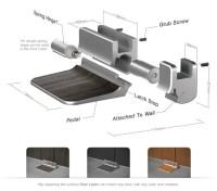 Foot Latch Design for Public Restroom Stall Doors  No ...