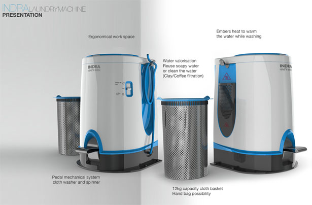 Indra Laundry Machine by Elodie Delassus