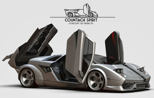 Flavio Adriani Attempts To Redesign Lamborghini Countach Car