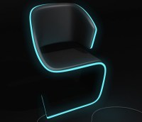 Lamed Chair with Electroluminescence Edges