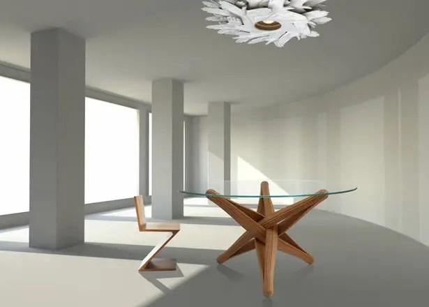 Lock Bamboo Table by J.P.Meulendijks