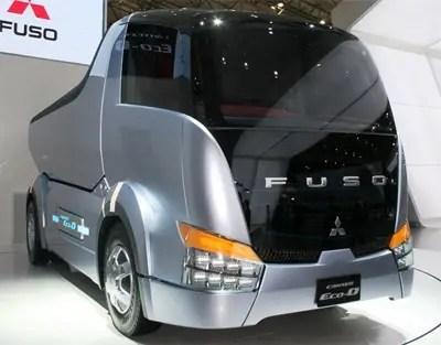 futuro mitsubishi autocarro con cassone ribaltabile concep fuso canter