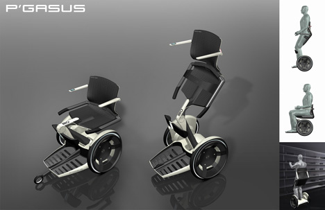 motorized easy chair french cane dining room chairs pegasus wheelchair concept - tuvie