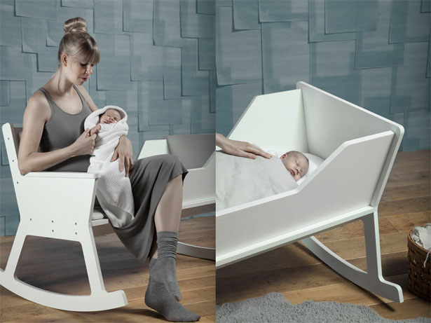 rocking chair cradle compact folding rockid by ontwerpduo tuvie