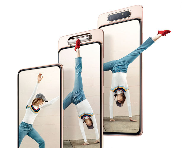 an image of the Samsung Galaxy A80's display