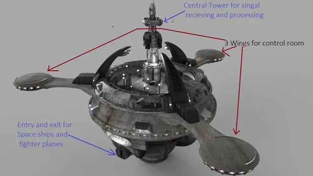 SGEntrada59  Futuristic Space Station by Shwetank