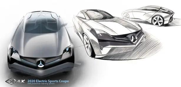 Mercedes Benz SILK Electric Sports Coupe مع نظام تحذير للمشاة من Hyoungsoo Kim