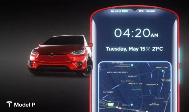 تسلا موديل P Smartphone Concept من مارتن هاجيك