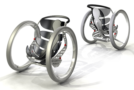 Transformable Wheelchair Concept by Caspar Schmitz