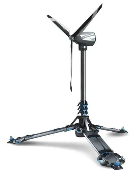 ultra portable eolic foldable wind powered generator