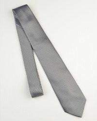 Striped Black & Silver Tie