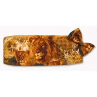 Jungle Animals Cummerbund and Bow Tie Set