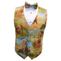 Zoo Animals Vest and Bow Tie Set