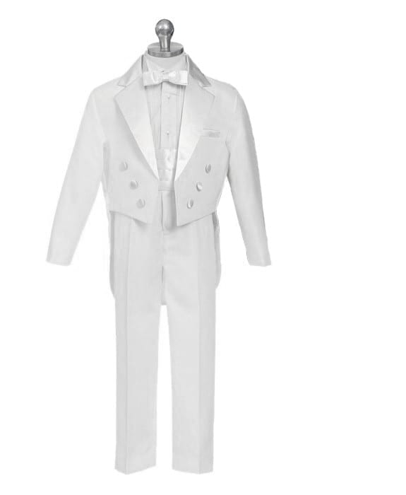 Boys Formal Tuxedo Suits w//Vest 5-piece Suit Set Gray size S-XL 2T-20