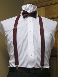 clip on suspenders 1 inch with matching bowties