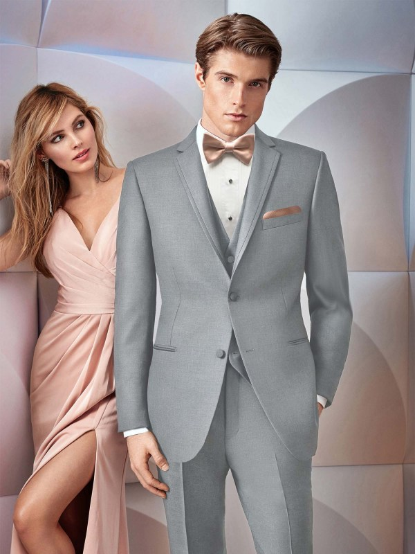 Ultra Slim Grey Brooklyn Tuxedo