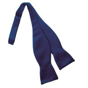 Navy Self Tie Bow Tie
