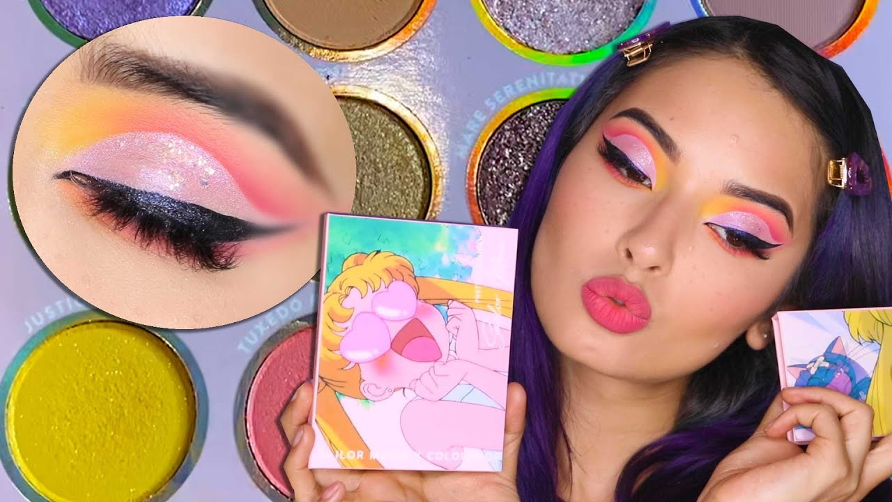 SAILOR MOON Y COLOUR POP! Usamos toda la coleccion y quede…WOW!