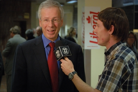 Stéphane Dion with Gavin Crawford