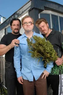 Mike Smith as Bubbles, Robb Wells as Ricky, John Paul Tremblay as Julian in The Tariler Park Boys Special