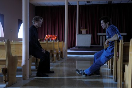 father gates and aidan in scrubs chapel