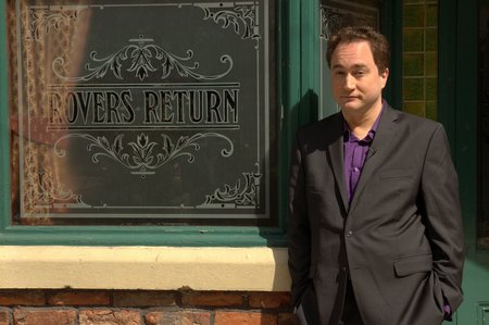 Mark Critch visits Coronation Street