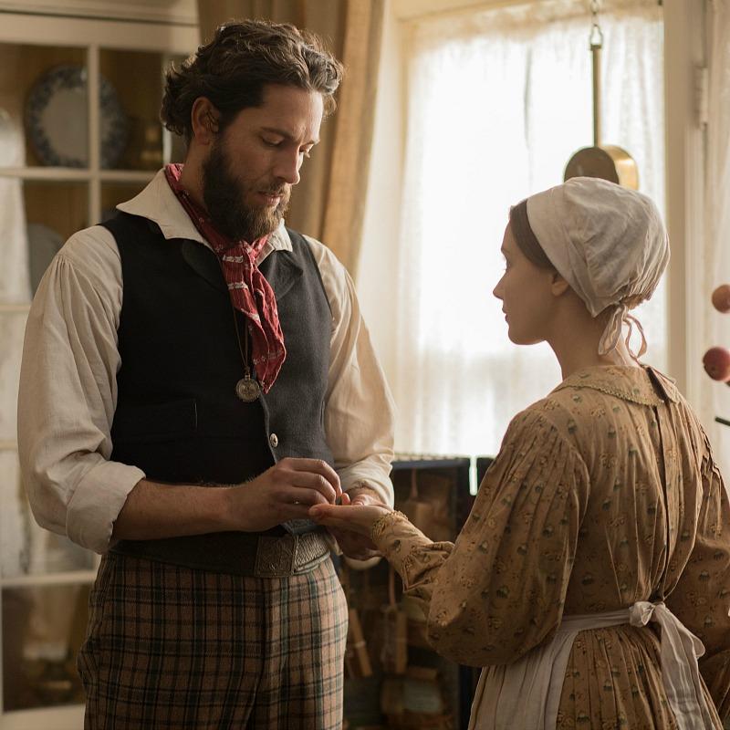 Zachary Levi as Jeremiah and Sarah Gadon as Grace Marks