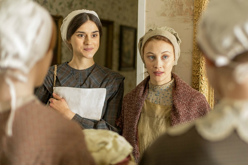 Rebecca Liddiard as Mary Whitney and Sarah Gadon as Grace Marks