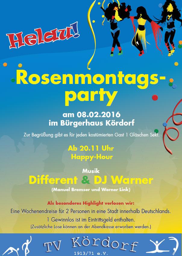 Rosenmontagsparty2016