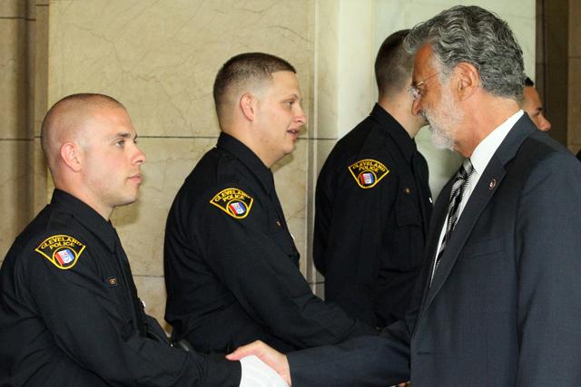 Mayor Jackson and the graduates