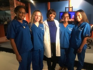 ASPIRE Nurse Senior Scholars and Daria Sheafe, Nurse Program Coordinator