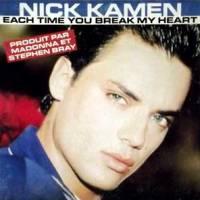 Nick Kamen Each Time You Break My Heart Singles Cover
