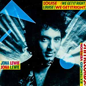 Jona Lewie Louise We Get It Right Single Cover