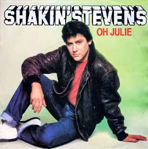 Shakin Stevens Oh Julie Single Cover