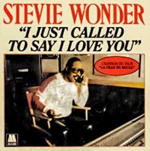 Stevie Wonder - I Just Called To Say I Love You - Single Cover