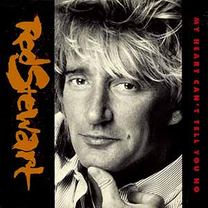 Rod Stewart My Heart Can't Tell You No Single Cover