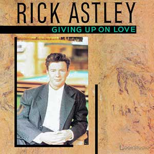 Rick Astley - Giving Up On Love - Single Cover