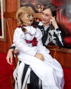 Annabelle joined the cast of #AnnabelleComesHome at the World Premiere