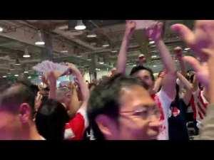 Tokyos fan zone goes wild after Japan beat Ireland