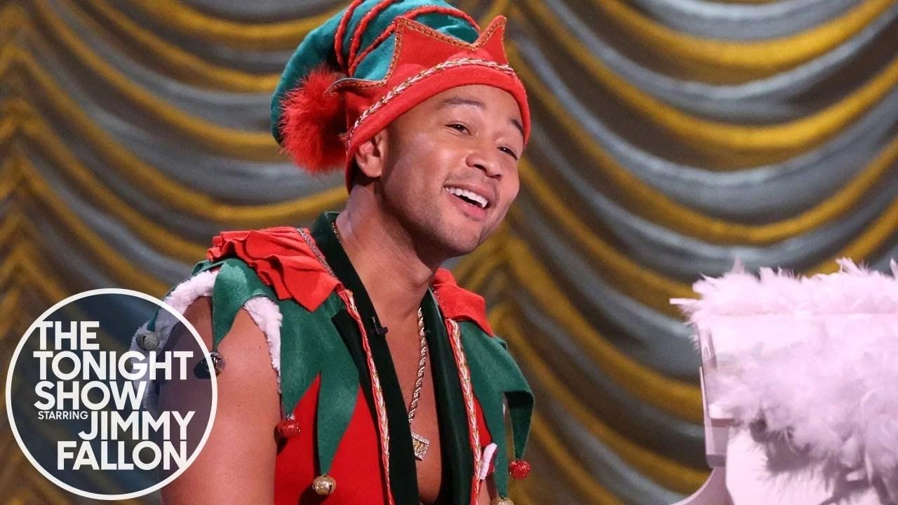 Jimmy Fallon shares text John Legend Presents Sexiest Elf Alive
