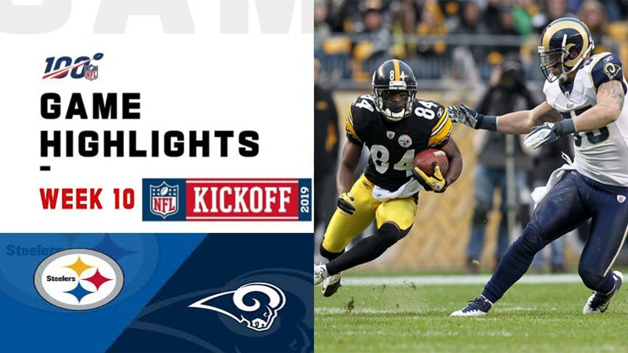 Week 10 Highlights NFL 20 Rams vs. Steelers 19