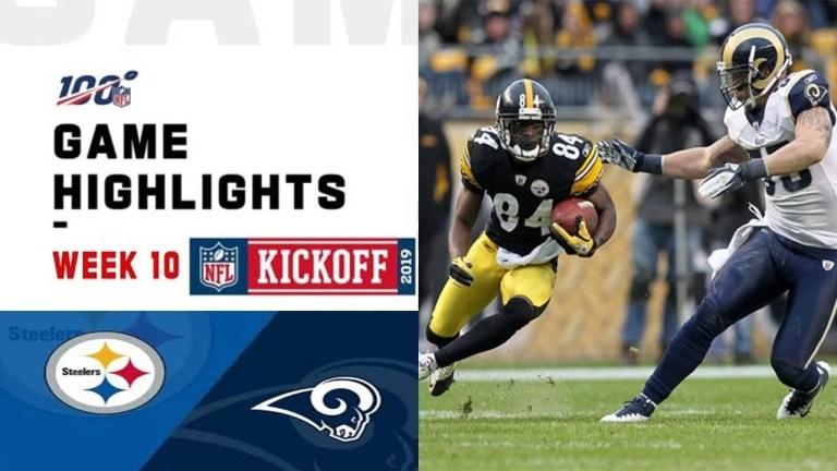 Week 10 Highlights NFL 20 Rams vs. Steelers 19