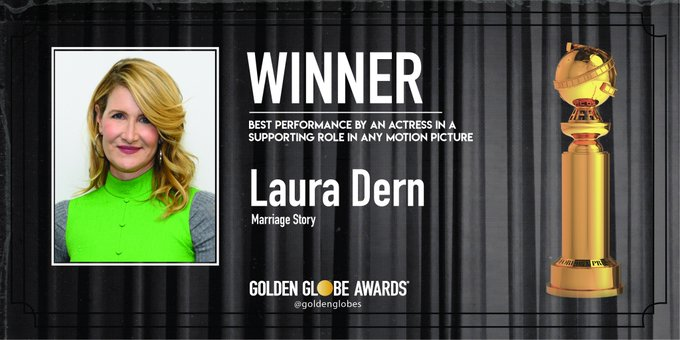 Laura Dern won Supporting Role in Marriage Story
