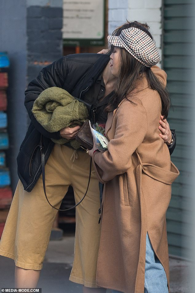 MasterChef judge Melissa Leong is spotted embracing a friend in Melbourne
